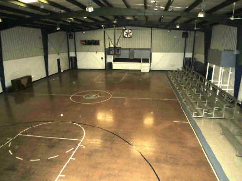 Inside the Sloan School Gym.