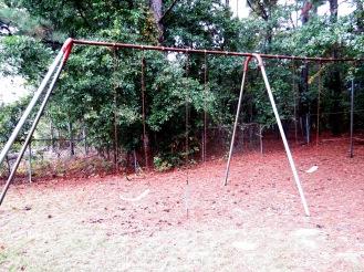 Broken swings.
