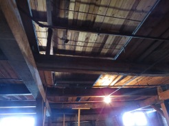Ceiling of the interior of the third level of the Palmetto Compress & Warehouse.